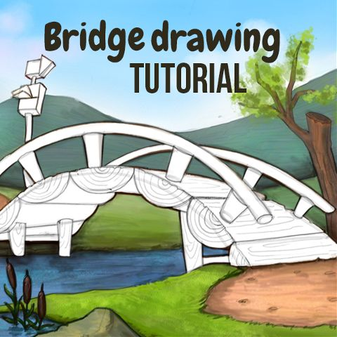 how to draw a bridge