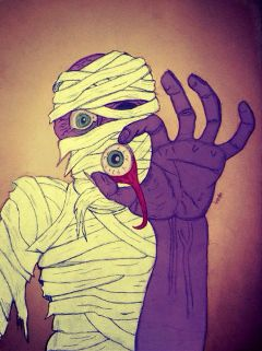 drawing sketch zombie mummy art