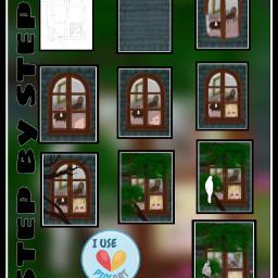 drawstepbystep window draw drawing nature