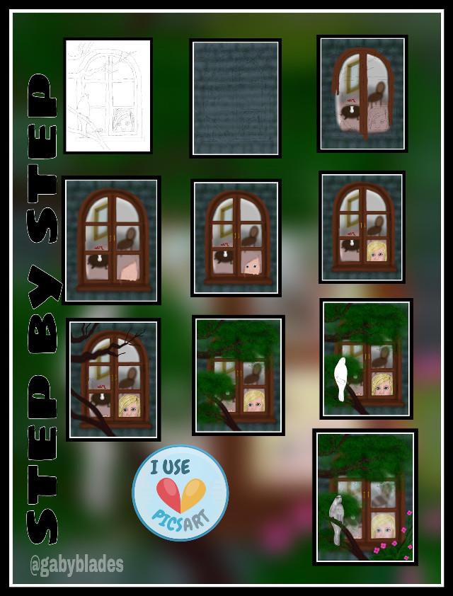 #drawstepbystep #window #draw #drawing #nature #petsandanimals #collage
