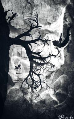 blackandwhite edited texture silhouette swing
