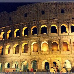 colosseum at night emotions people