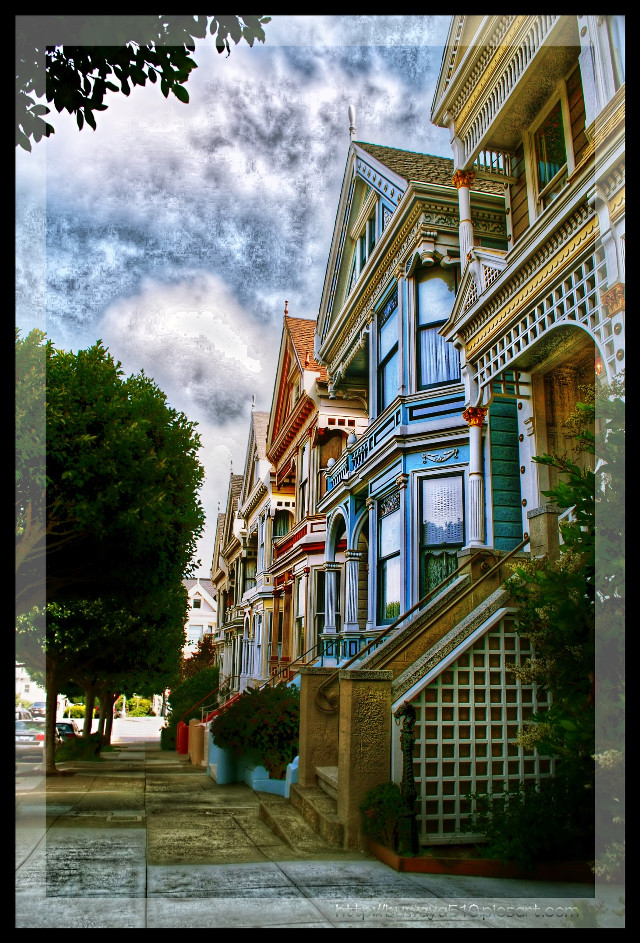 """""""Painted Ladies"""" #photography #sanfrancisco #beautifypicsart #fattal #artistic #colorful #hdr  Re edt not for daily inspiration"""