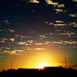 sunset colorful peace