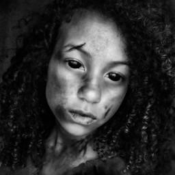 blackandwhite drawing me creepy zombie