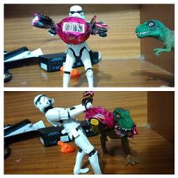 starwars stormtrooper dinossauro tiranossaurorex bombom