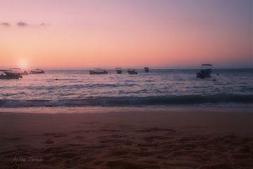 horizon sunset beach coast oldphoto