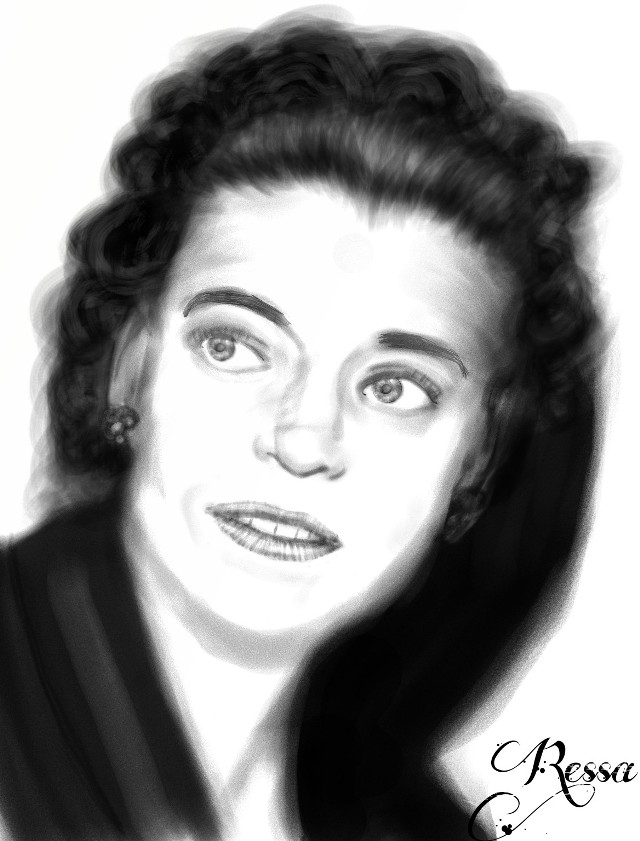 This one is special to me, it is my grandma Mildred. She passed away when i was 4 and this is one of the only pictures i have of her so i had to draw it.  #wdpwomenportraits #dcsketch #blackandwhite #oldphoto #people #love  #family  #digitalart