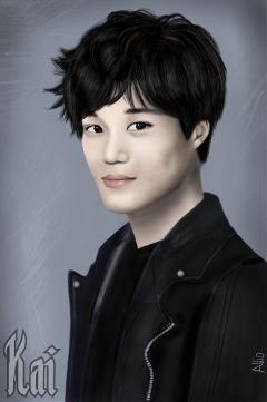 drawing kai exo korean pop