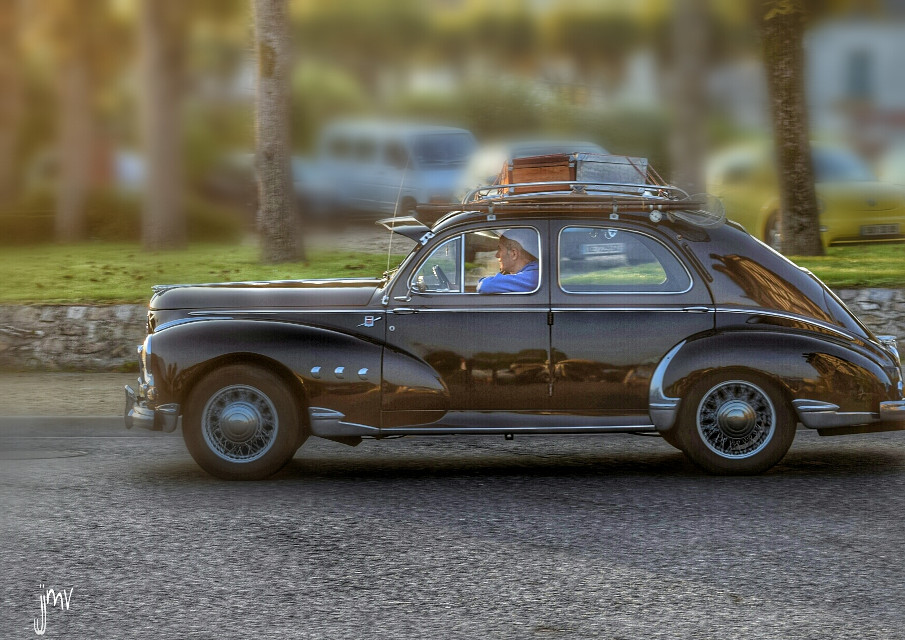 Old cars serie..peugeot 203 .. #photography #hdr #colorful #cars #retro #vintage